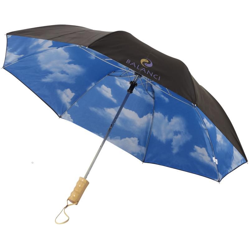 """Blue skies 21"""" 2-sectie automatische paraplu"""
