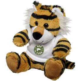 Knuffel tijger met T-shirt