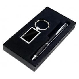 Set, balpen en sleutelhanger