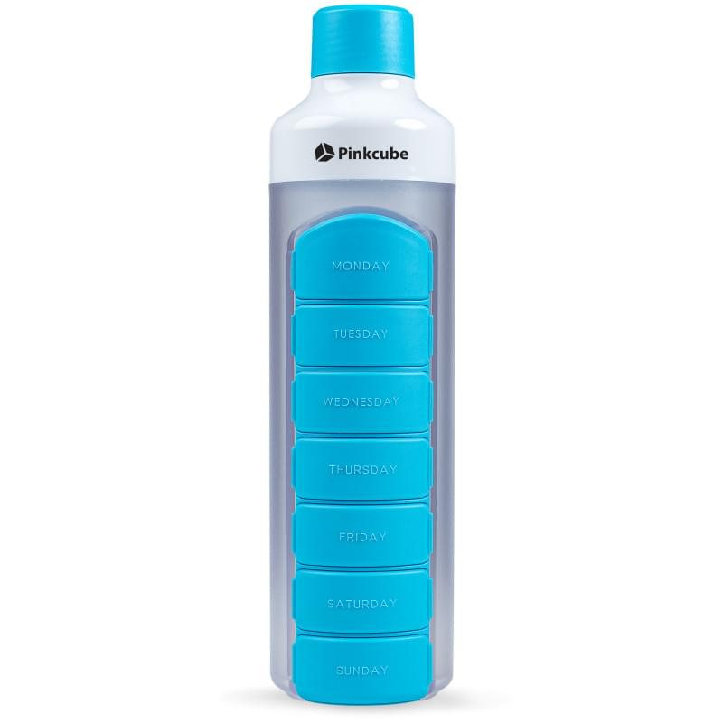 YOS Bottle - waterfles met pillendoos