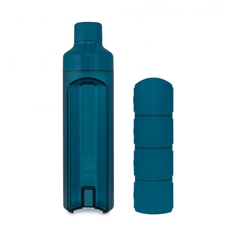 YOS Bottle - waterfles met pillendoos