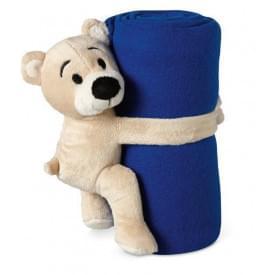 Fleece deken met beer