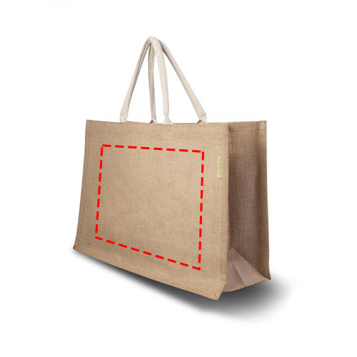 Jute shopper Large - Achterzijde