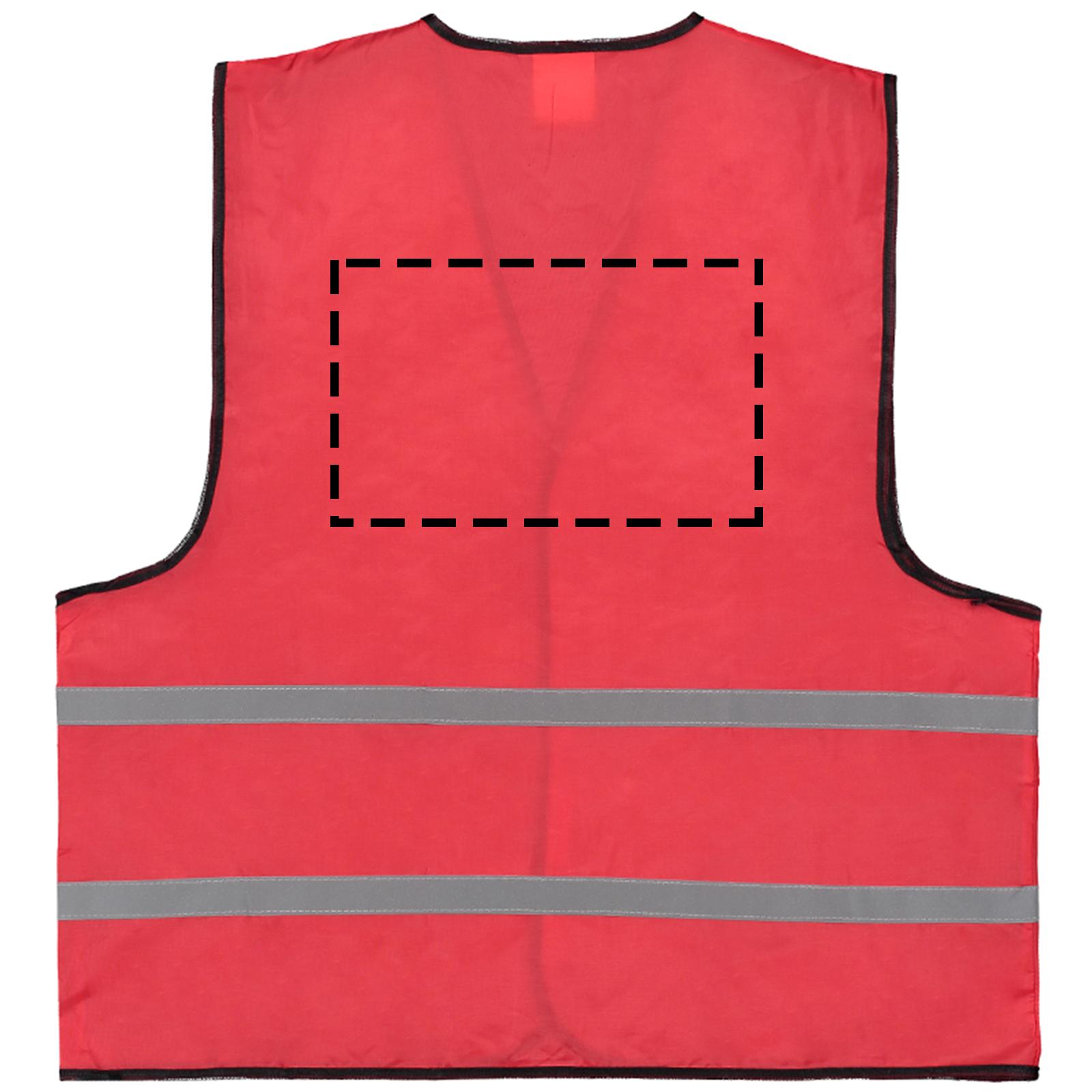 Veiligheidshesje gekleurd - Bedrukking achterzijde