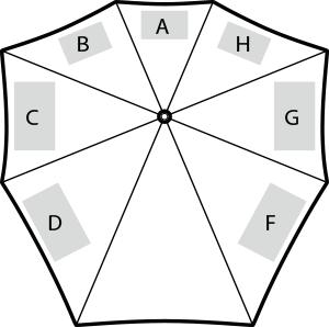 senz° manual stormparaplu - Bedrukking