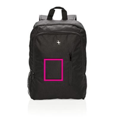 Swiss Peak laptop rugzak - Bedrukking voorzijde