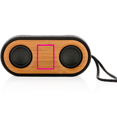 Bamboo X dubbele speaker - Bedrukking