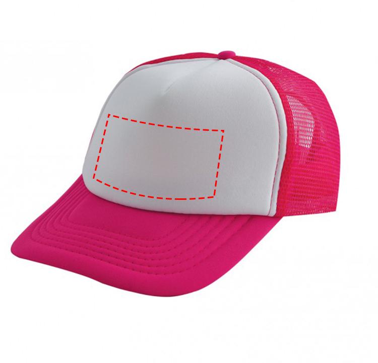 Original trucker cap met witte voorzijde - Bedrukking