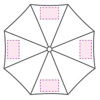 Compacte automatische golfparaplu - Bedrukking