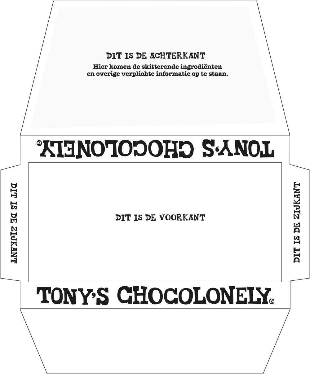 Tony's Chocolonely chocoladereep 180 gram - Bedrukking