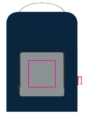 Opvouwbare canvas rugzak - Bedrukking tas