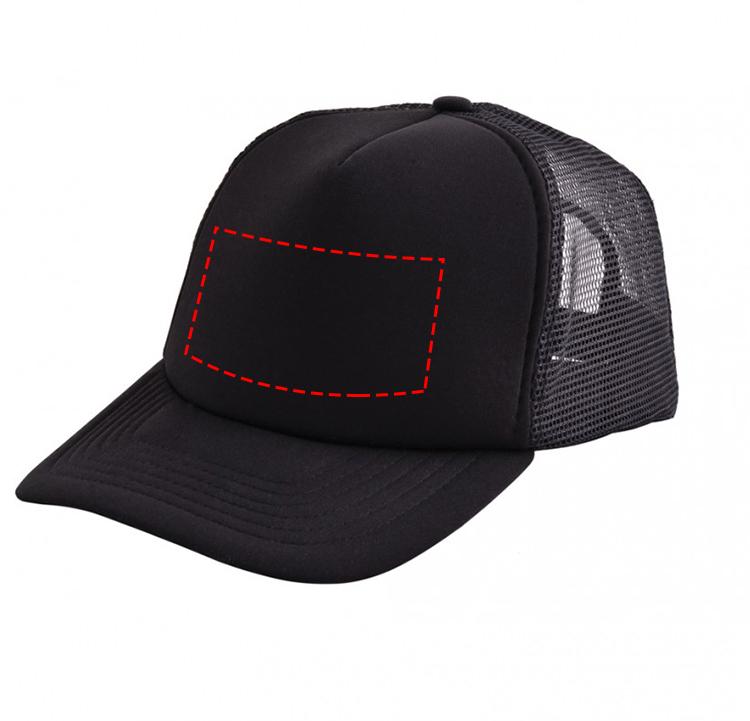 Original trucker cap met gekleurde voorzijde - Bedrukking