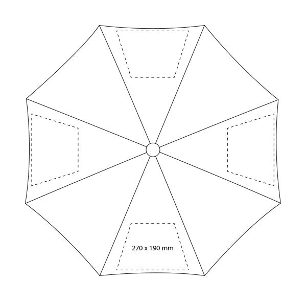 Metalen automatische klassieke paraplu - Bedrukking