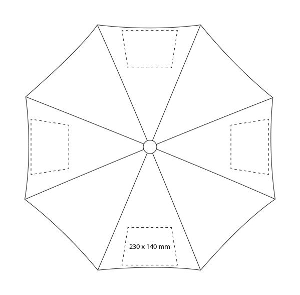 Paraplu bestaande uit 2 delen - Bedrukking
