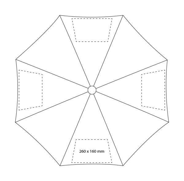Lino 3-delige paraplu - Bedrukking