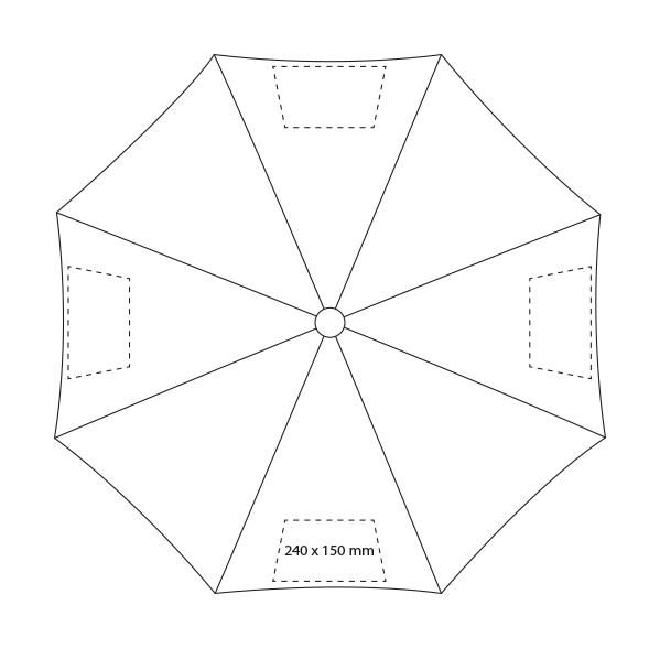 3-delige automatische paraplu - Bedrukking