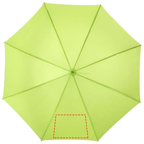 Automatische paraplu met metalen stok en houten handvat