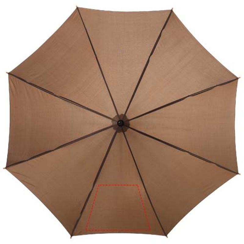 Automatische klassieke houten paraplu - 1ste paneel