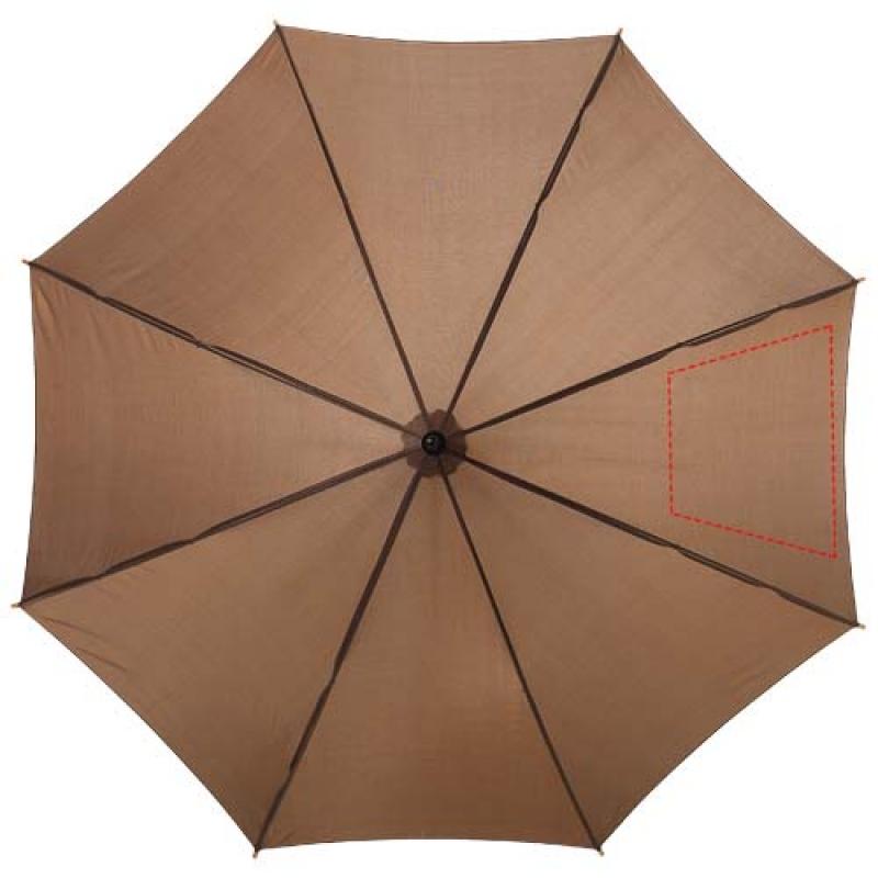 Automatische klassieke houten paraplu - 3de paneel