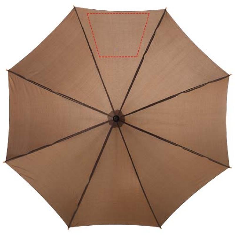 Automatische klassieke houten paraplu - 5de paneel