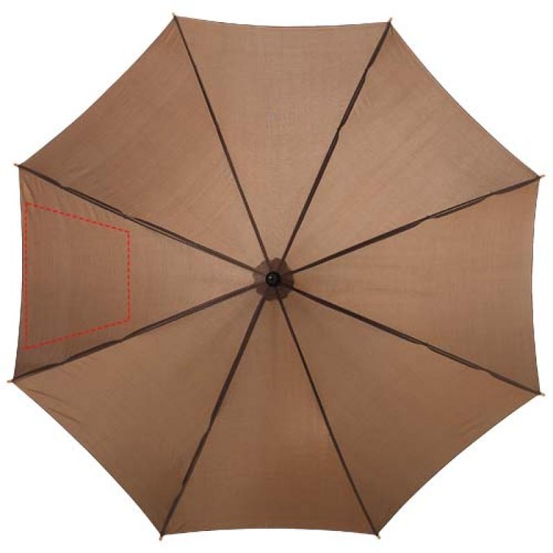 Automatische klassieke houten paraplu - 7de paneel