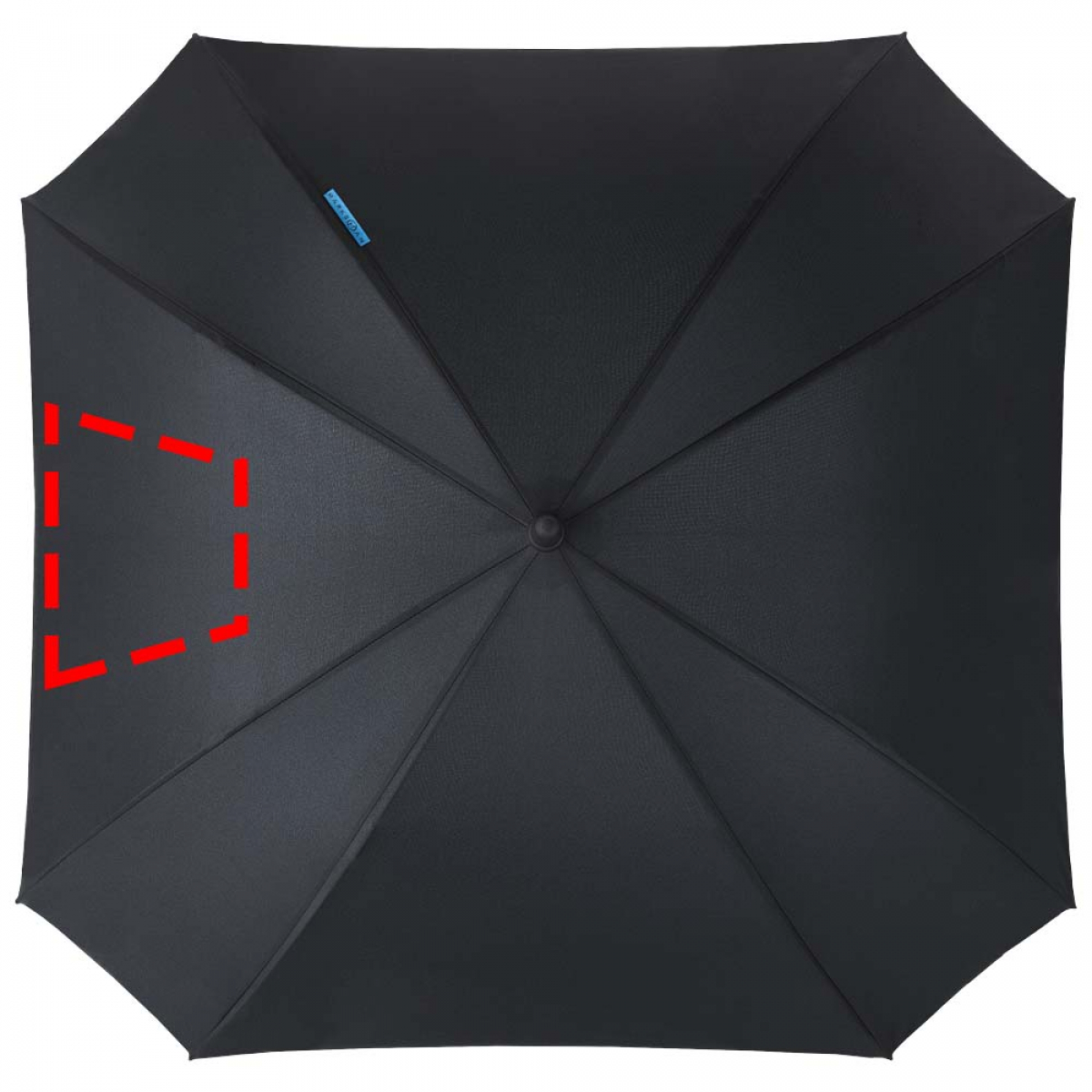 Vierkante paraplu dubbellaags