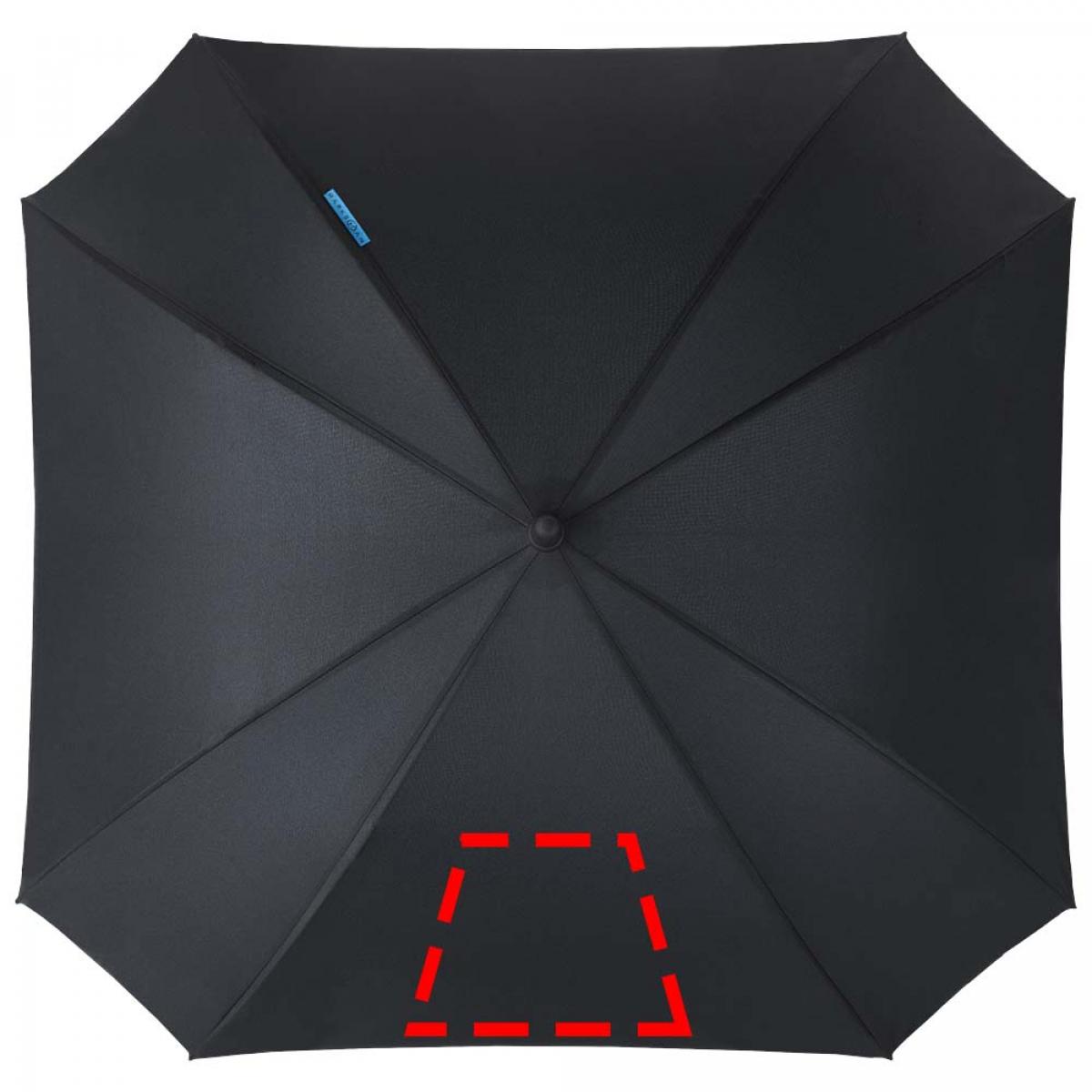 Vierkante paraplu dubbellaags - 2de grote paneel