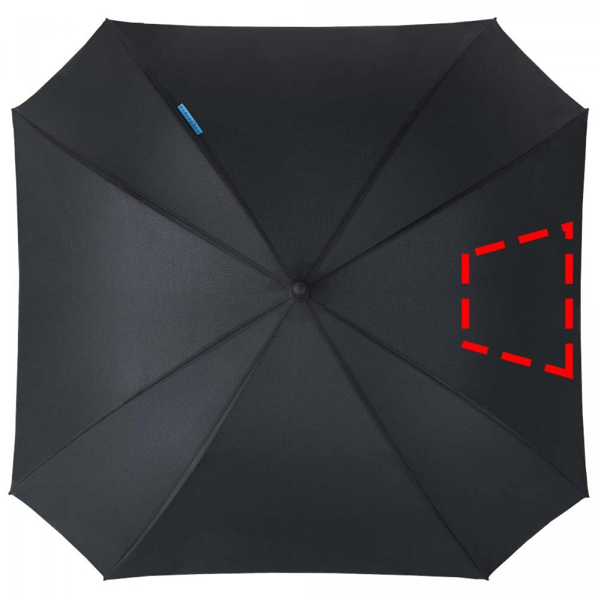 Vierkante paraplu dubbellaags - 3de grote paneel