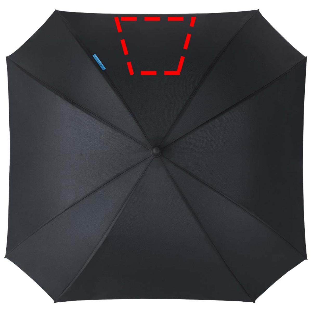 Vierkante paraplu dubbellaags - 4de grote paneel