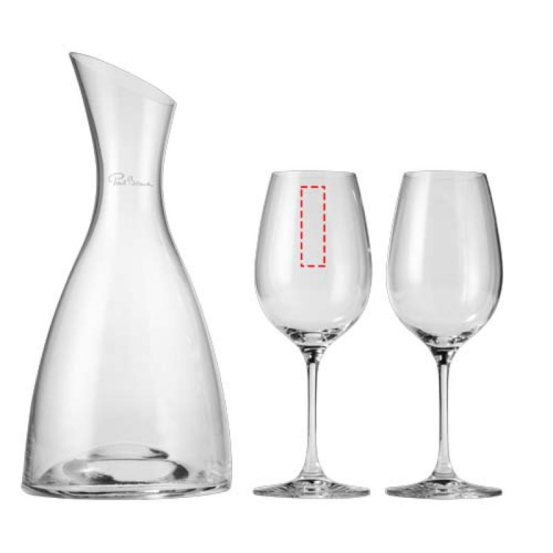 Prestige decanteerfles met 2 wijnglazen - 1ste glas