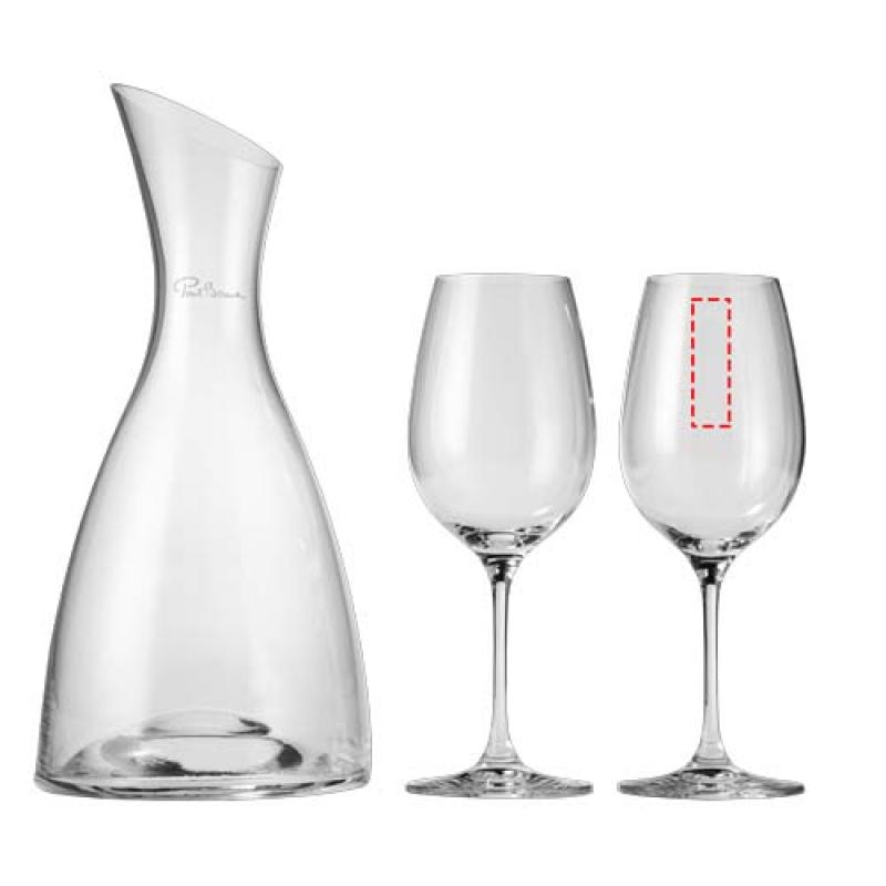 Prestige decanteerfles met 2 wijnglazen - 2de glas