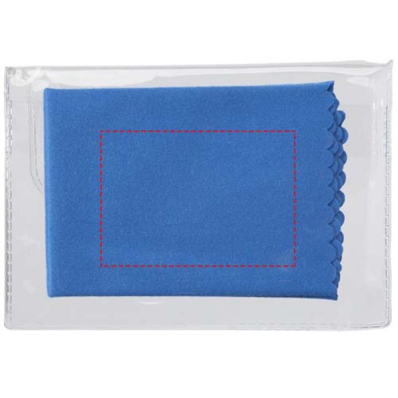 Microvezel schoonmaakdoek in transparant doosje - achterzijde