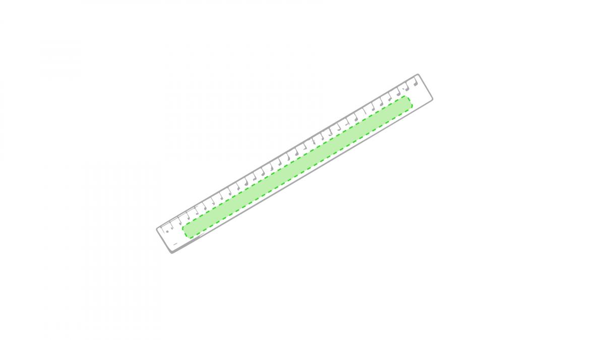 Flexibele liniaal 30 cm Flexor - Op het opblaasbare gedeelte