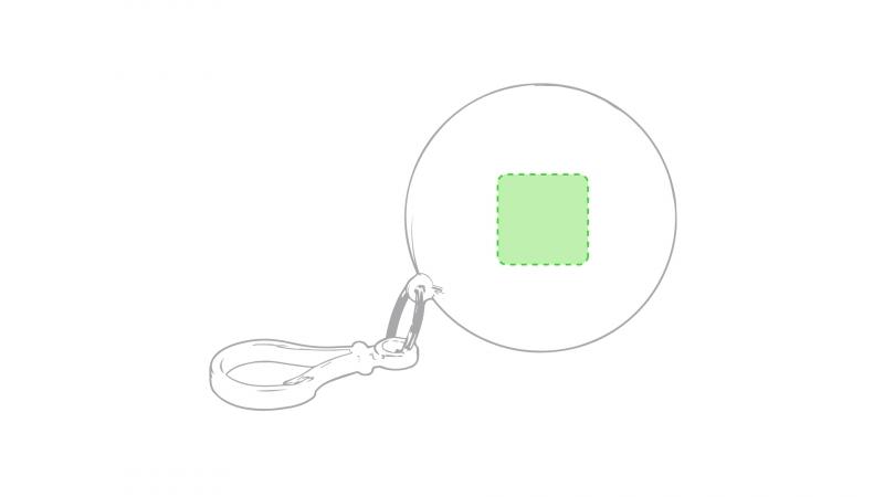 Kinderponcho in plastic bal - Op de bal van de houder