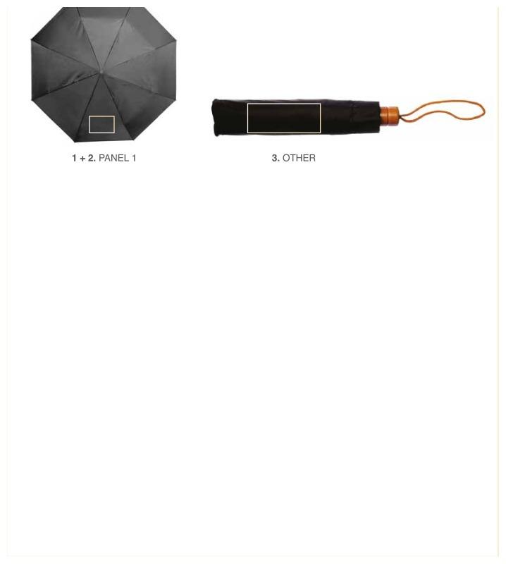 Opvouwbare polyester paraplu - Paneel 1