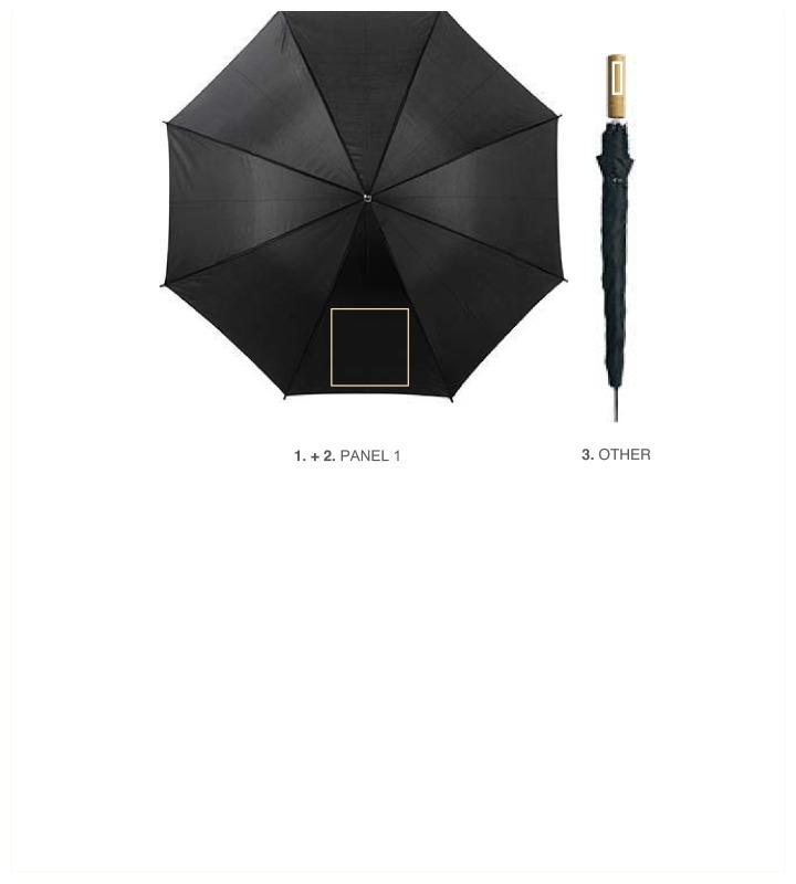 Golfparaplu met houten handvat - Paneel 1