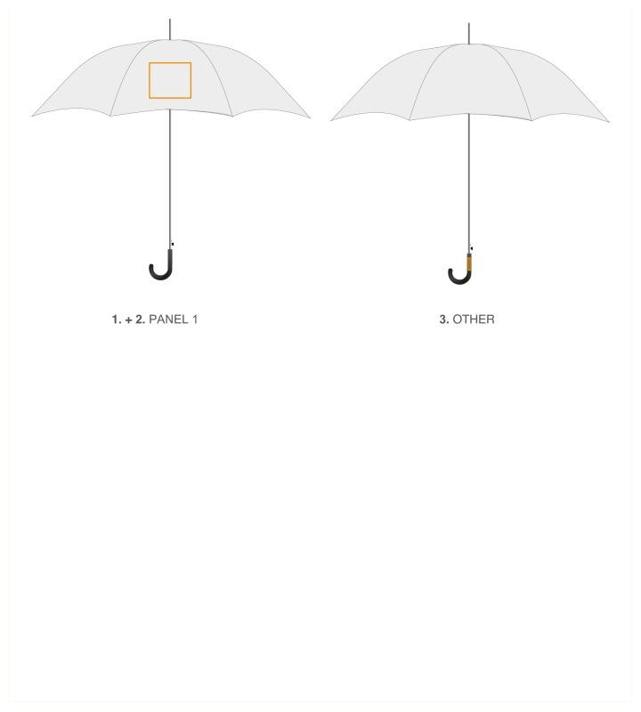 Automatische polyester paraplu - Paneel 1