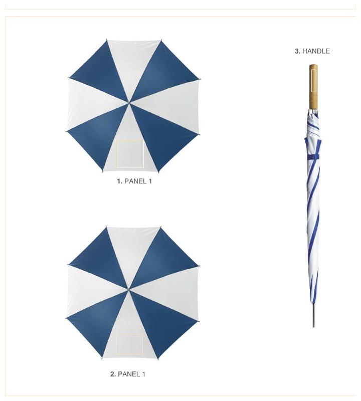 Golfparaplu met 8 panelen - Paneel 1