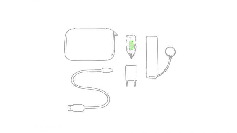 Powerbank set Rebex - Op de plug van de auto-oplader