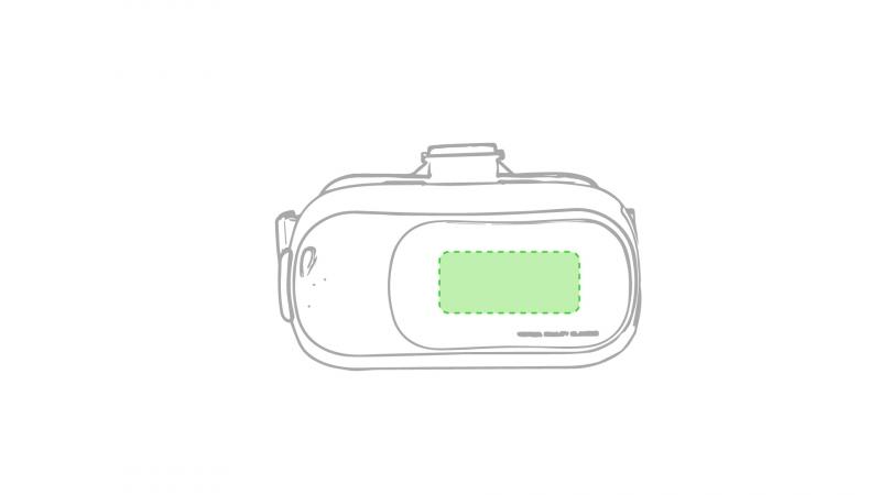 Virtual Reality bril Bercley - Op de voorzijde smalle gedeelte