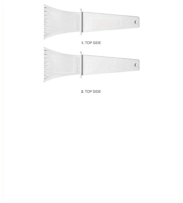 IJskrabber met gekleurde handgreep - Bovenzijde