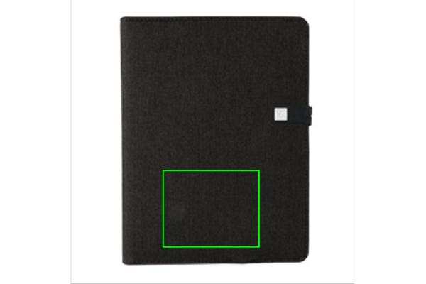 Kyoto powerbank & USB notitieboek - Artikel voorzijde onder