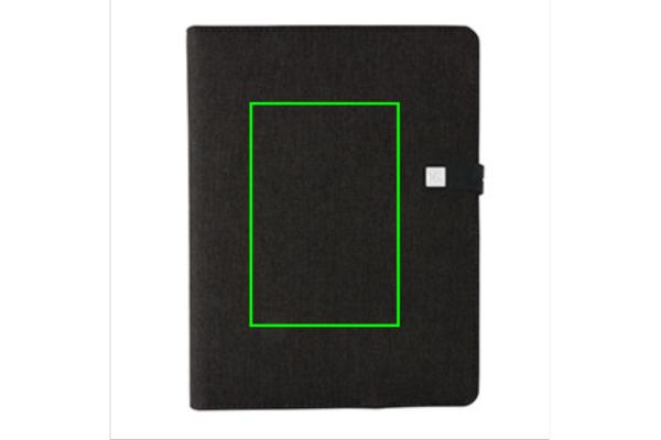 Kyoto powerbank & USB notitieboek - Artikel voorzijde midden