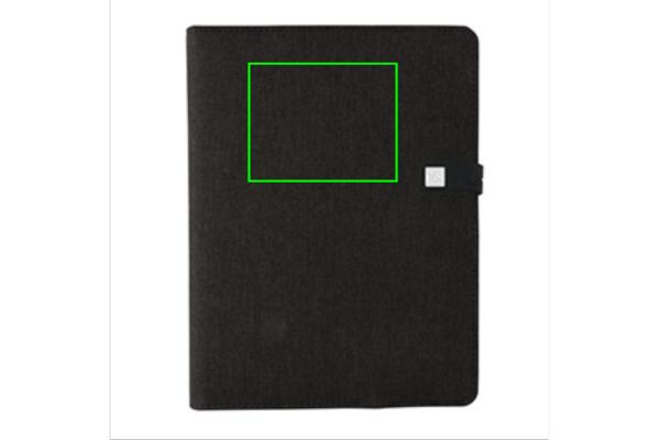 Kyoto powerbank & USB notitieboek - Artikel voorzijde boven